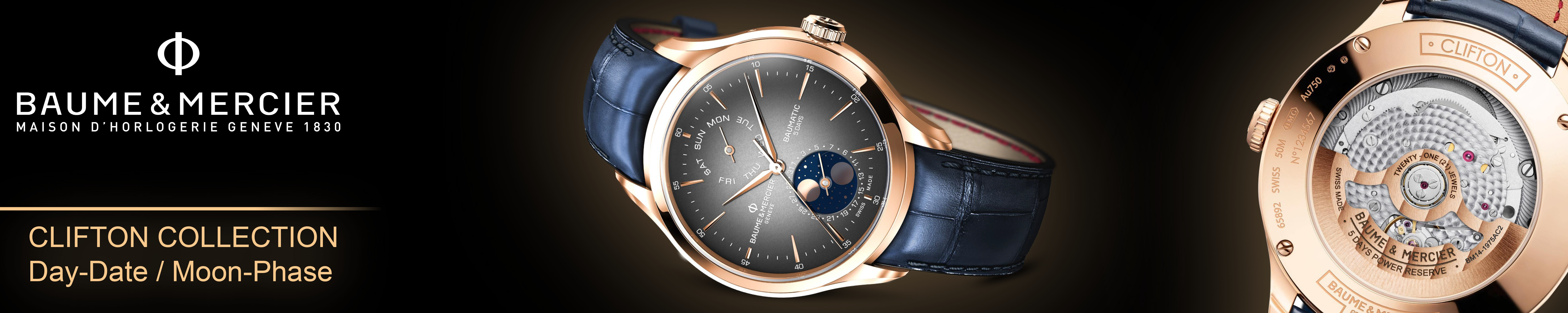 Clifton Baumatic Day-Date / Moon-Phase